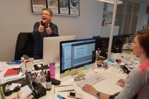Blide ansatte i Feber Design