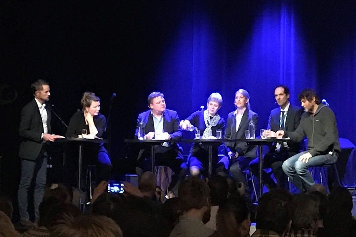 """Panelet i """"Den store havdebatten""""."""
